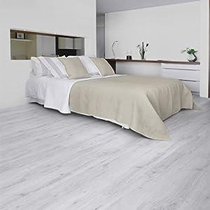 "Gerflor Senso Adjust 0286 Sunny White""- Laminado de vinilo para suelo, autoadhesivo, diseño madera clara"