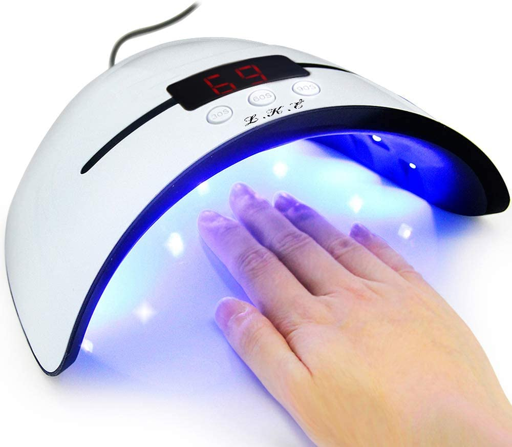 Led Uv Nail Lamps For Gel Nail Polish Nail Dryer Curing Lamp With 3 Timers Auto Sensor Led Digital Display Usb Plug Carry Convenient Amazon Co Uk Beauty