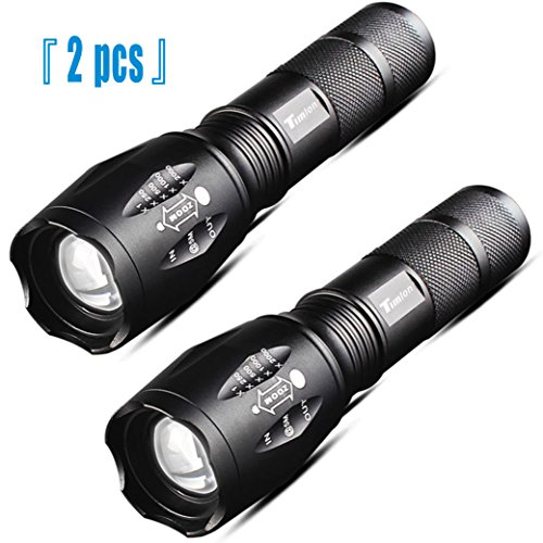 Timlon® 2 Pack LED Tactical Flashlight Cree XM-L T6 2000 Lu
