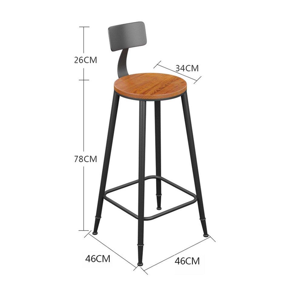YANFEI バーチェアヴィンテージインダストリアルスタイルの鉄+ソリッドウッドコーヒーベンチキッチンチェア (サイズ さいず : 78センチメートル) B07FBY6ZB778センチメートル