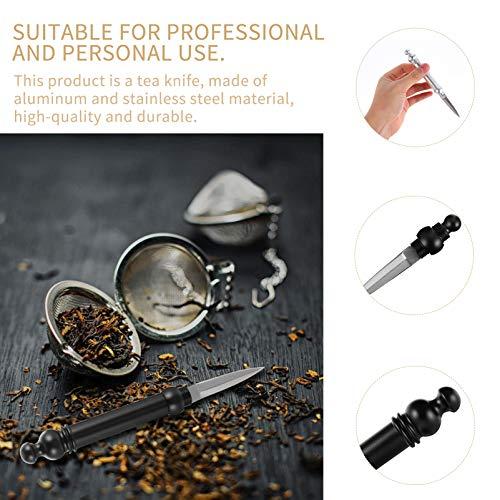 Hemoton Puer Tea Knife Tea Needle Kungfu Tea Tool Stainless Steel Tea Cutter Cake Ice Pick Tool Tea Ceremony Accessories for Home Office