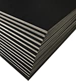 Excelsis Design, Pack of 15 Foam Boards (Acid-Free), 16x20 Inches, 3/16 Inch Thick Mat, Black with Black Core (Foam Core Backing Boards, Double-Sided Sheets)