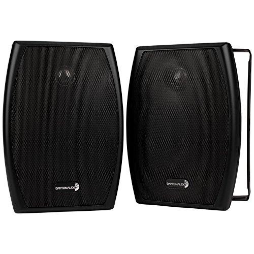 Dayton Audio IO525BT 5-1/4 2-Way 70V Indoor/Outdoor Speaker Pair Black by Dayton Audio
