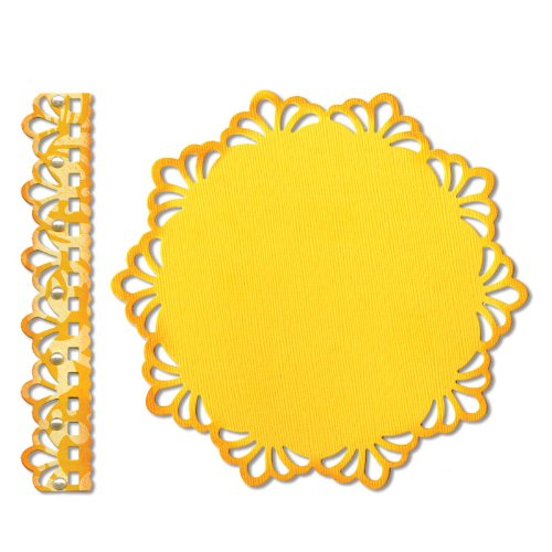 Sizzix Thinlits Die Set 2PK - Doily & Doily Border by Jen Long
