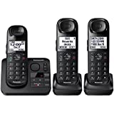 Panasonic KX-TGL433B Dect 6.0 3-Handset Landline Telephone, Black (Certified Refurbished)