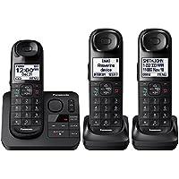 Panasonic KX-TGL433B / KX-TG3683B Dect 6.0 3-Handset Landline Telephone, Black (Certified Refurbished)