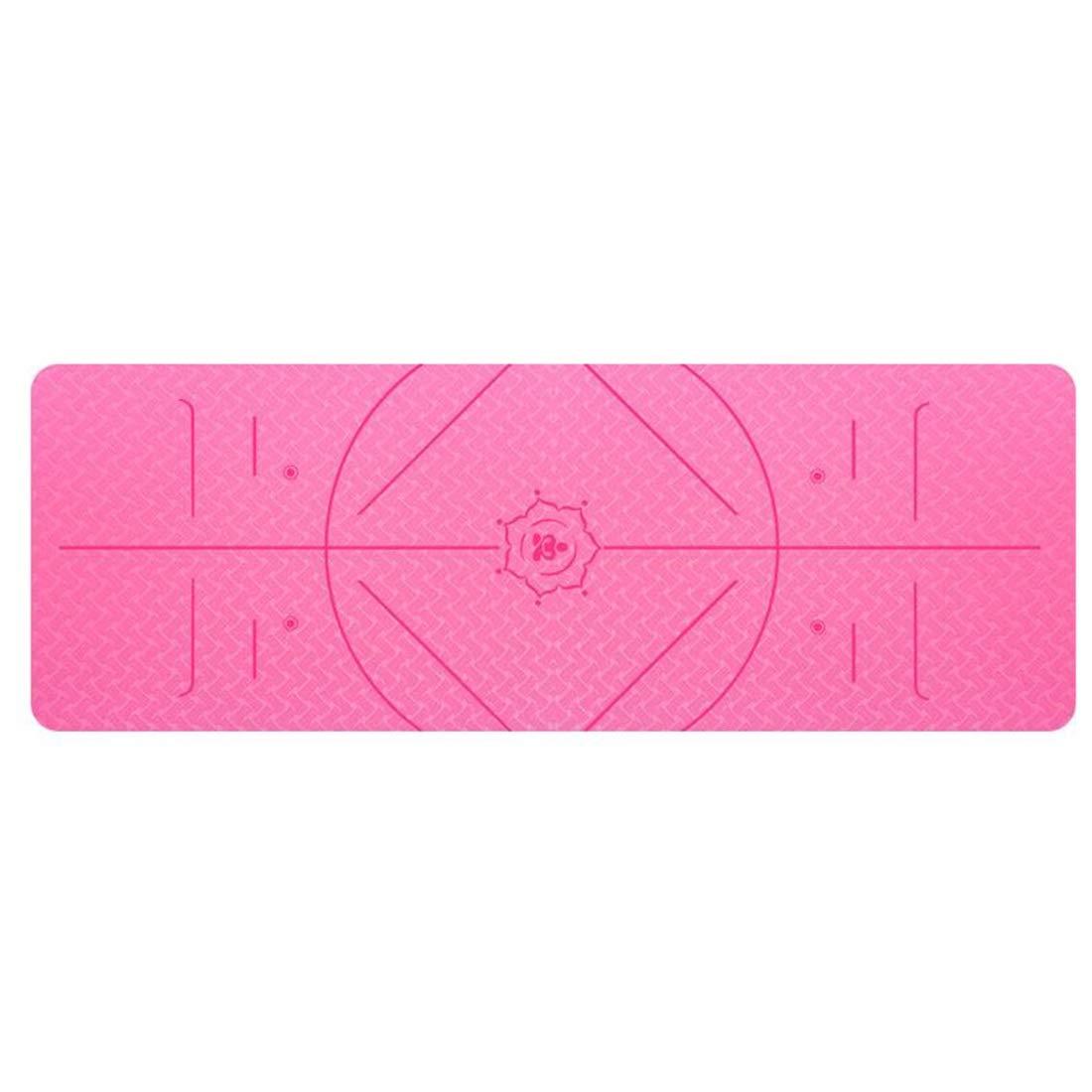Rose Xasclnis Tapis de Yoga avec Sangle - Tapis de Yoga 6   8mm épais, antidérapant, léger, écologique, très Grand 72 X 24    72 X 31.5  pour Exercice de Fitness Yoga Pilates 183cmX61cm6mm