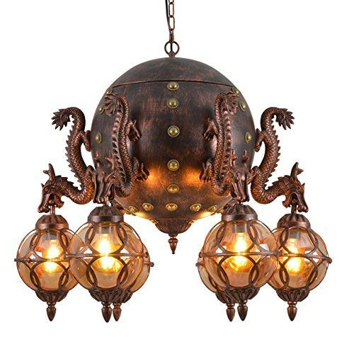 Lámpara colgante de dragón vintage