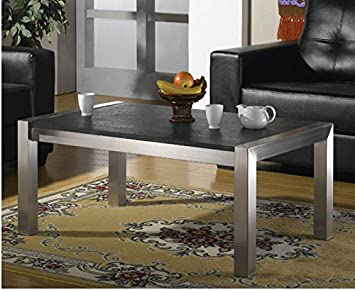 Couchtisch Wohnzimmertisch Edelstahl Mit Granitplatte Von Szagato LxB 100x80 Cm Granit