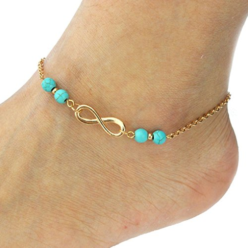 Foot Chain Links (Sandistore Womens Beach Barefoot Toe Chain Link Foot Anklet Chain)