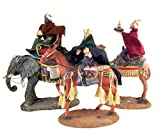 Christmas Nativity Three Wise Men on Horse Camel and Elephant Statue Set, 12 Inch, 3 Piece Set