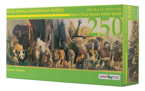 UPC 095866959814, Wild Animal Panoramic 250 Piece Puzzle