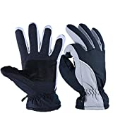 Sporting Goods : OZERO Winter Gloves, -20°F Cold Proof Thermal Ski Glove for Men & Women - Reinforced PU Palm and Insulated Cotton Insert - Water Resistant & Windproof - Denim-Frost/Berry-Red/Wine-Cream