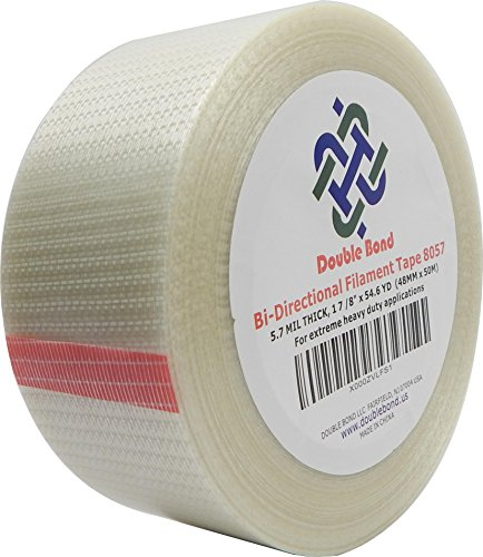 Double Bond Bi-Directional Filament Strapping Tape 8057, 48mmx50m (Pack of 1)