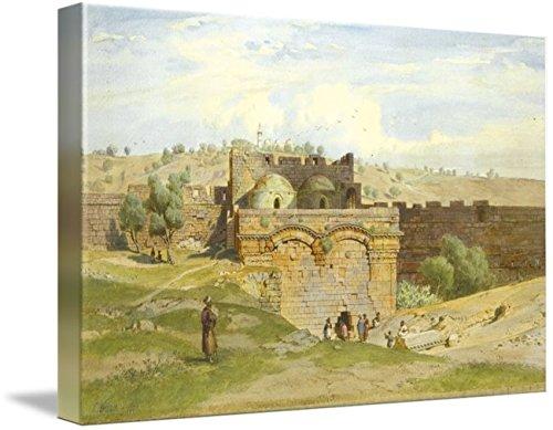 - Wall Art Print Entitled Carl Werner, The Golden GATE, Jerusalem, The Mount by Celestial Images   32 x 21