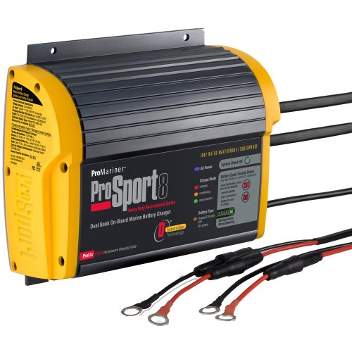 Promariner Prosport 8 Gen 3 Heavy Duty On-Board Marine Battery Charger - 8 Amp - 2 Bank ()
