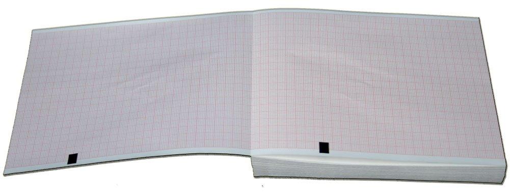 Mortara ELI 150 EKG Machine Paper - 108mm X 140mm X 200 Sheets (5 Packs)