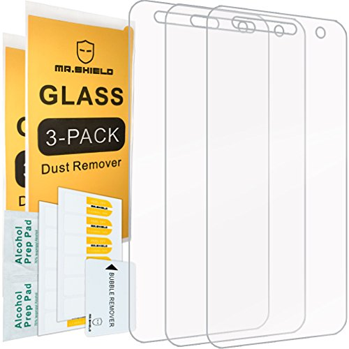 [3-PACK]- Mr Shield For LG Fiesta LTE [Tempered Glass] Screen Protector [0.3mm Ultra Thin 9H Hardness 2.5D Round Edge] with Lifetime Replacement Warranty