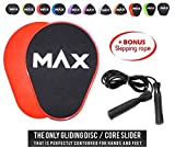 Kyпить Core Sliders Set of 2 Exercise Sliding Discs - 6 IN 1 Training Bundle Includes Skipping Rope + Carry Bag + E-book + Video Access - All Colors & Shapes by Maxtir (Red, Triangle Shaped) на Amazon.com