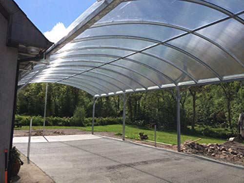 Ecover 3.1Mil Greenhouse Plastic Cover Polyethylene Clear Film Garden Plant Cover, 12 x 16ft by Ecover (Image #5)