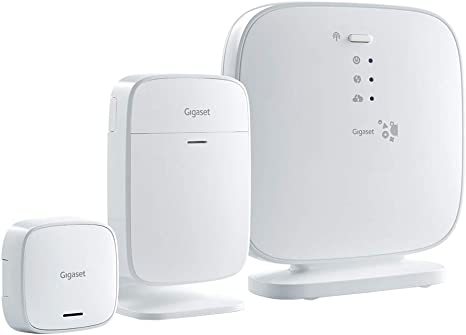 Sistema de alarma Gigaset Elements con detector de movimiento por infrarrojos, sensor de puerta y...