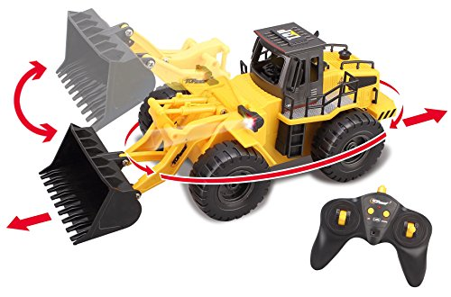 Top Race 6 Channel Full Functional Front Loader, RC Remote Control Construction Tractor with Lights & Sounds 2.4Ghz (TR-113G) (Functional 6 Light)