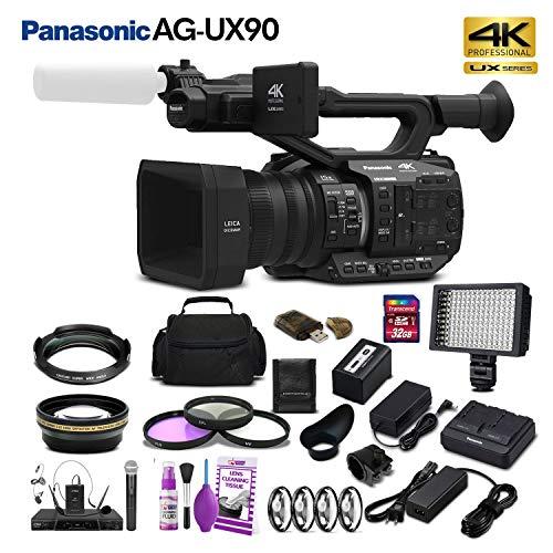 Panasonic AG-UX90 4K/HD Professional Camcorder (AG-UX90PJ) Studio Starter Bundle