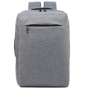CHENDX Handbags Fashion Men and Women Portable Anti-Theft Oxford Cloth Business Casual Large Capacity Backpack Square Backpack (Color : Gray, Size : 42cm*28cm*14cm)