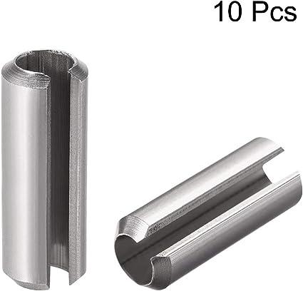 M4 x 45mm Stainless Steel Split Spring Dowel Tension Roll Cotter Pin Black 10Pcs