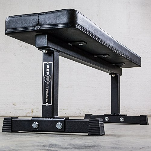 Rep 1000 lb Rated Flat Weight Bench for Weight Lifting