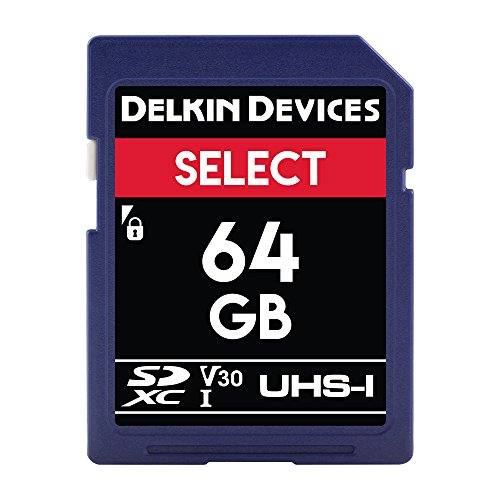 Delkin Devices 64GB Select SDXC UHS-I (U3/V30) Memory Card Delkin Devices Secure Digital Card