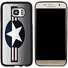 Rikki Knight United States Air Force LOGO Design Cell Phone Case for Samsung Galaxy S7 - Black