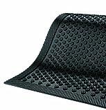 Andersen 545 Safety Scrape Nitrile Rubber Entrance Indoor/Outdoor Floor Mat, 10' Length x 4' Width, 1/8'' Thick, Black
