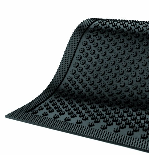 3 Length x 2 Width 1//8 Thick M+A Matting 545 Safety Scrape Nitrile Rubber Entrance Indoor//Outdoor Floor Mat Black