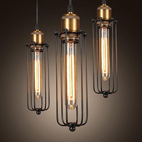 - Single Head Vintage Retro Iron Pendant Light Creative Edison Flute Ceiling Lamp Indoor Lighting