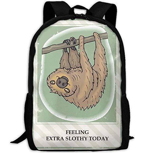Sloth Clip Art Free Clip Art Interest Print Custom Unique Casual Backpack School Bag Travel Daypack Gift -