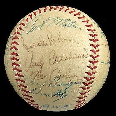 Baltimore Orioles Team Signed Baseball (Rare 1970 Baltimore Orioles World Series Champions Team Signed Baseball COA - JSA Certified - Autographed)