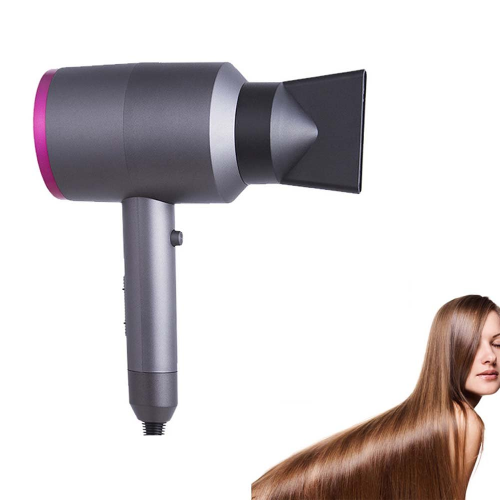 Professional Negative Ionic Hair Dryer 1100W 3 Speed Adjustable Overheat Protection Low Noise Soft, Sleek Smooth Hair Home Salon QJHP
