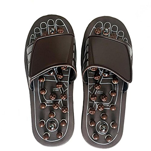 81028ed80d6d FJY Foot Massage Slippers Reflexology Acupressure Massager Health Mules  With Rotating Acupuncture Points Feet Care