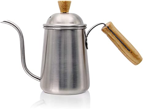 Xfc Acero Inoxidable 650 ml de café garrafa Cafetera, Madera ...