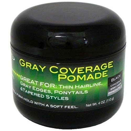 Web Pomade (Weave Aide Gray Coverage Black Pomade, 4 Ounce)