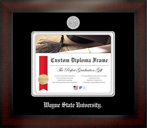 Wayne State University 8 x 10 Mahogany Finish Infinity Diploma Frame by Celebration Frames by Celebration Frames