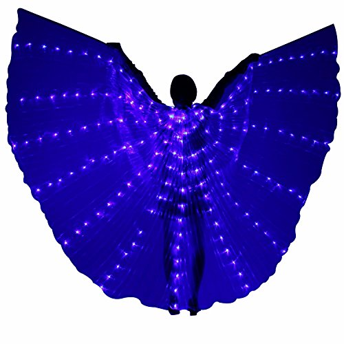Besplore Women's Belly Dance Isis Wings,Costume Angle LED Isis Wings,Blue Light ()