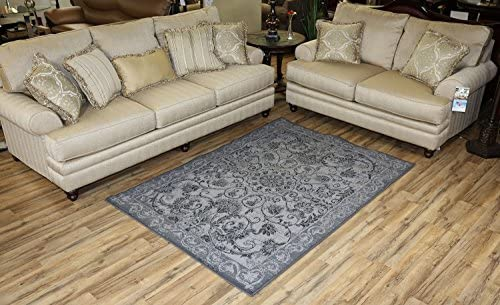 Modela Collection Vintage Medallion Design Traditional Oriental Area Rug Rugs Grey