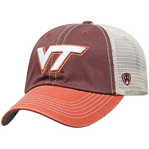 Top of the World Adult Unisex's Offroad Snapback Mesh Back Adjustable Hat, Virginia Tech Hokies Maroon, One Size ()
