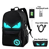 Anime Luminous Backpack Noctilucent School Bags Daypack USB chargeing port Laptop Bag Handbag