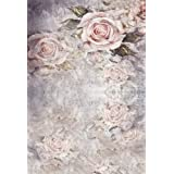 Pink Rose Flowers Photo Backdrops Vintage Grey Wall Photography Backgrounds Wedding Baby Newborn Booth Studio Wallpaper Girl Birthday Shoot Props