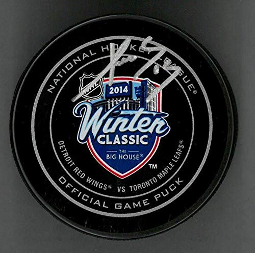 Signed Pavel Datsyuk Puck - 2014 Winter Classic Official - Autographed NHL Pucks