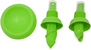 Weber's Wonders 3 Pcs Lemon Sprayer Kit - Orange Juice Extractor- Citrus Juicer & Squeezer - Clean Spray For Vegetables, Salads, Seafood - Fashionable Kitchen Set - Fresh Lime Storage Gadget