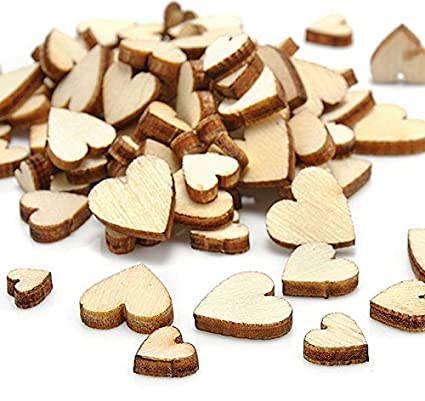 Amazon Com Crafts Diy Sell Wedding 100pcs Wood Wooden Love Heart
